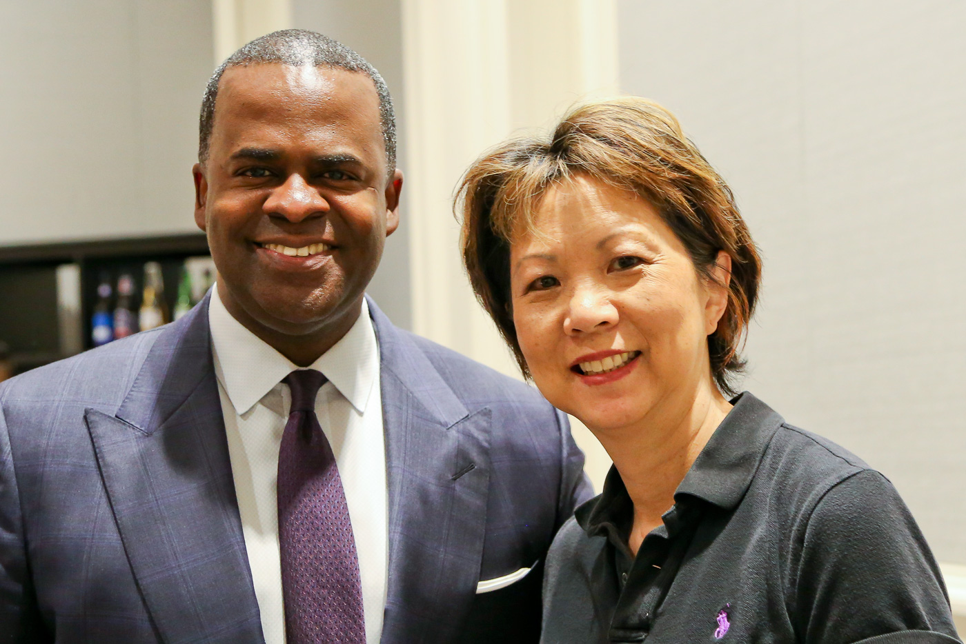 Mayor Kasim Reed and Verna Tsunafuji