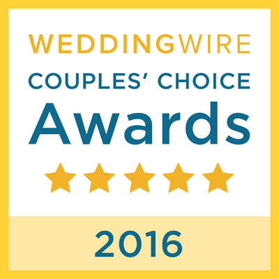 WeddingWire <br>Couples' Choice<br>Awards 2016 title=WeddingWire <br>Couples' Choice<br>Awards 2016